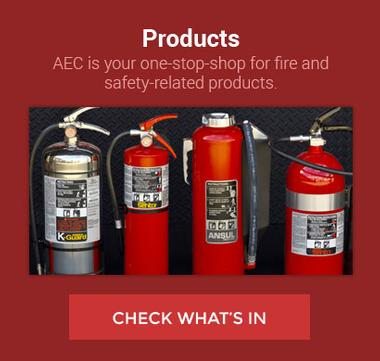 Graphic link for the Products page for AEC Fire